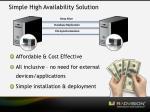 simple high availability solution
