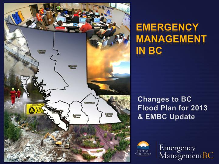 Changes to bc flood plan for 2013 embc update