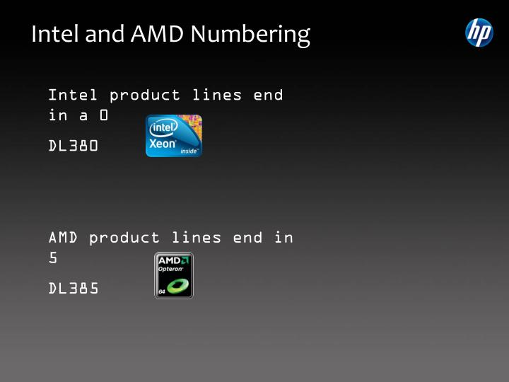 Intel and amd numbering