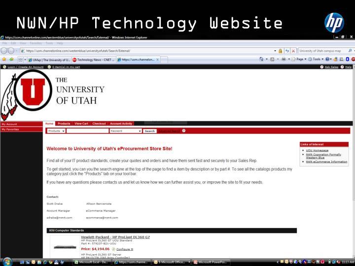 NWN/HP Technology Website