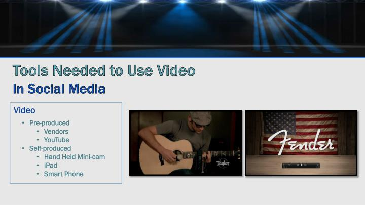 Tools Needed to Use Video