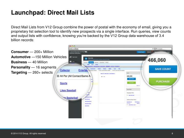 Launchpad: Direct Mail Lists