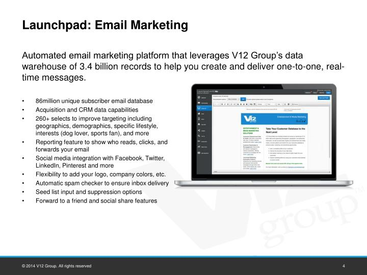 Launchpad: Email Marketing
