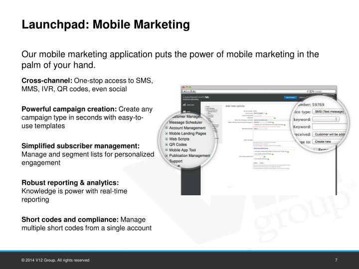 Launchpad: Mobile Marketing
