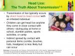head lice the truth about transmission 1 3