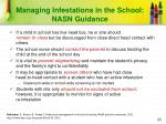 managing infestations in the school nasn guidance