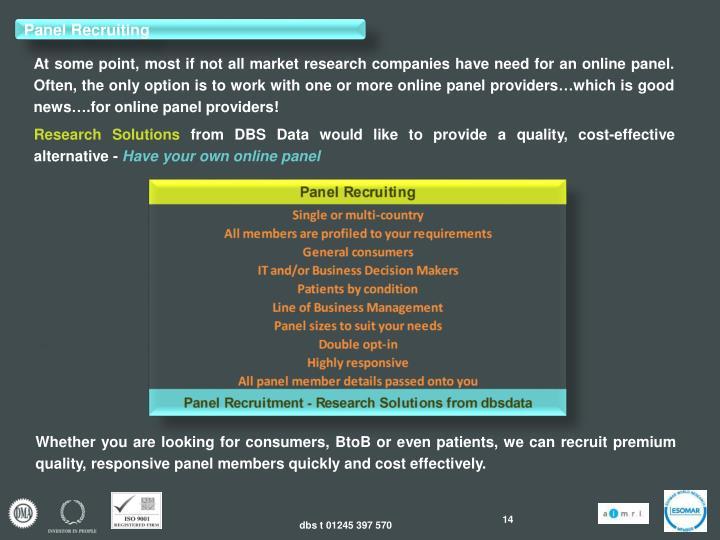 Panel Recruiting