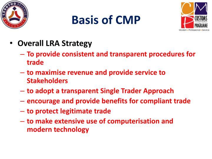 Basis of CMP