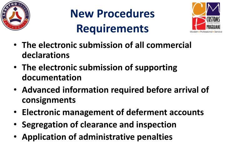 New Procedures