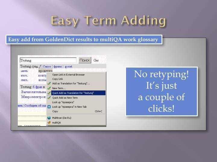 Easy Term Adding
