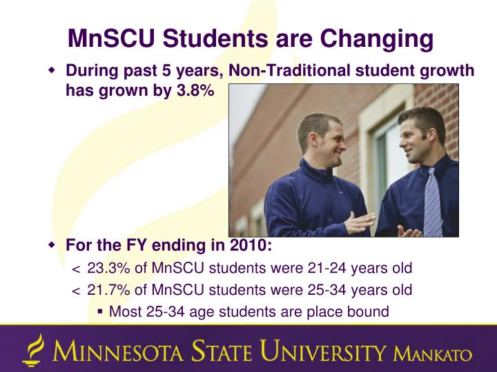 MnSCU Students are Changing