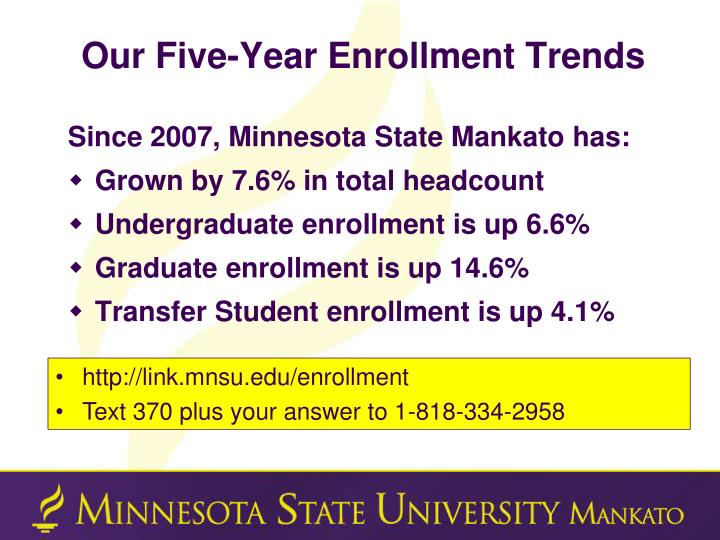 Our Five-Year Enrollment Trends