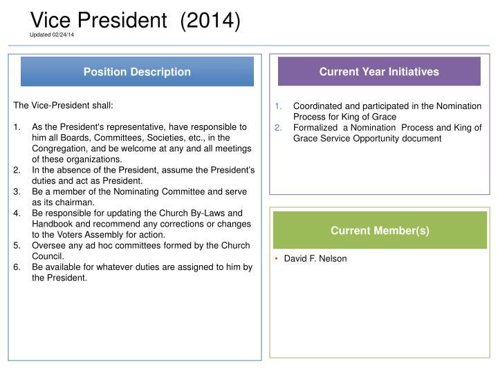 Vice President  (2014)