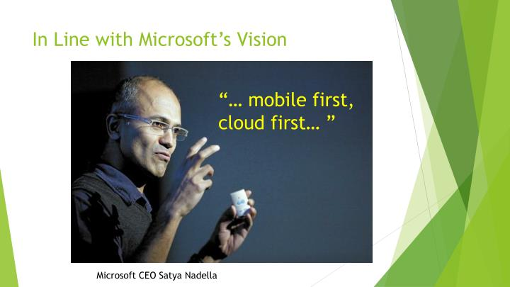 In Line with Microsoft's Vision