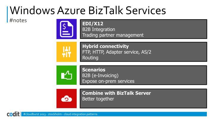 Windows Azure BizTalk Services