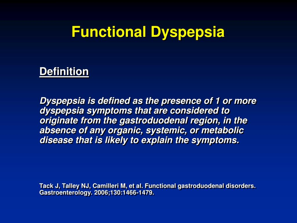 PPT - Dyspepsia: Evaluation and Management PowerPoint Presentation