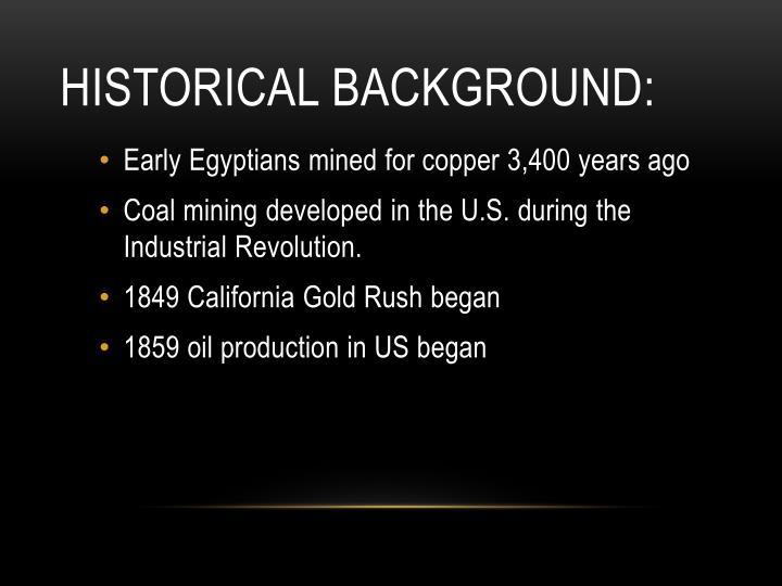 Historical Background: