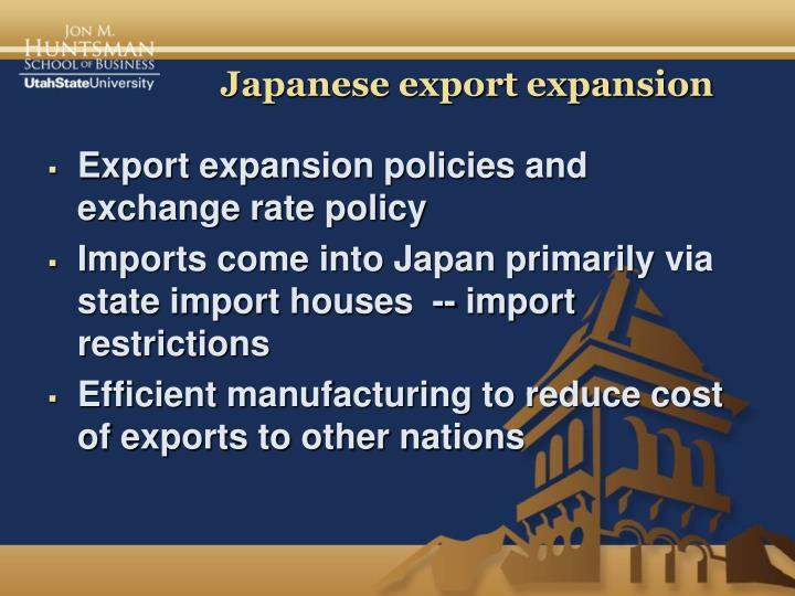 Japanese export expansion