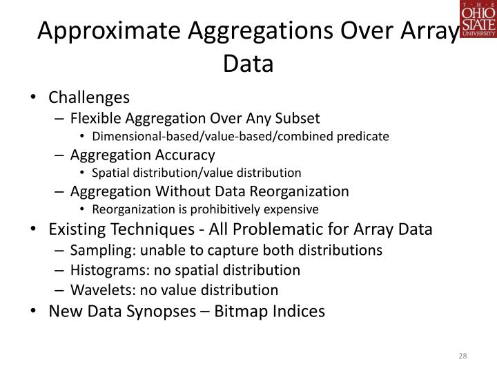 Approximate Aggregations