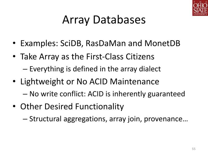 Array Databases