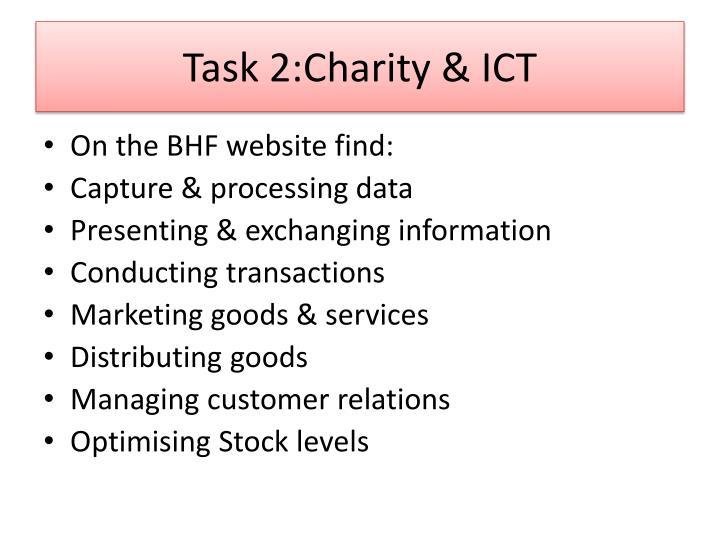 Task 2:Charity & ICT