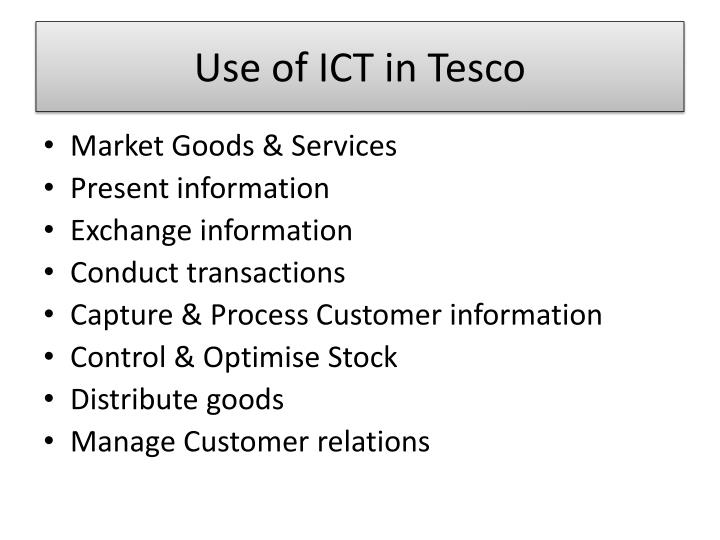 Use of ICT in Tesco