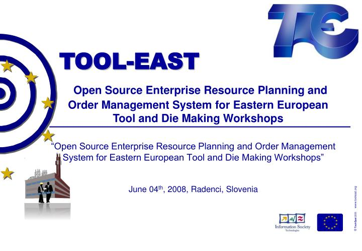 """Open Source Enterprise Resource Planning and Order Management System for Eastern European Tool an..."