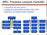 bpel processus compos d activit s