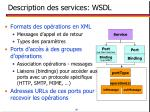 description des services wsdl