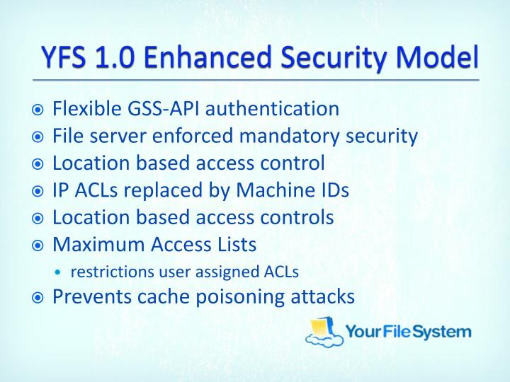 YFS 1.0 Enhanced Security Model