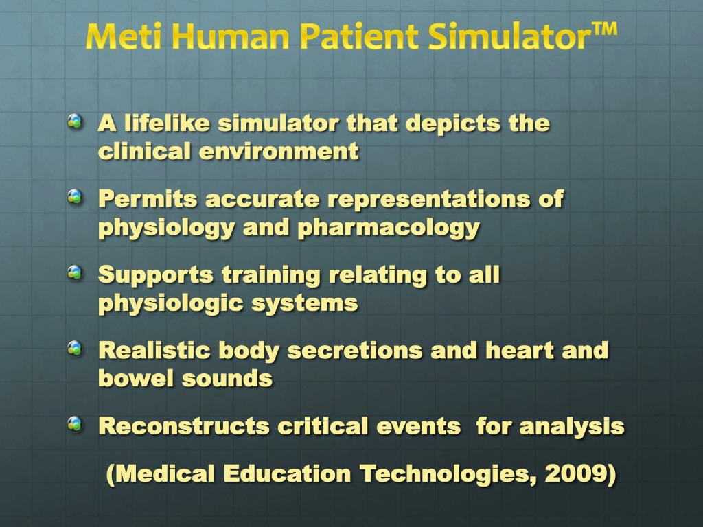 PPT - Medical Simulation PowerPoint Presentation - ID:1572634