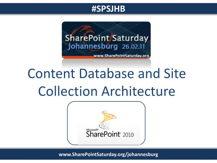 Content Database and Site Collection Architecture