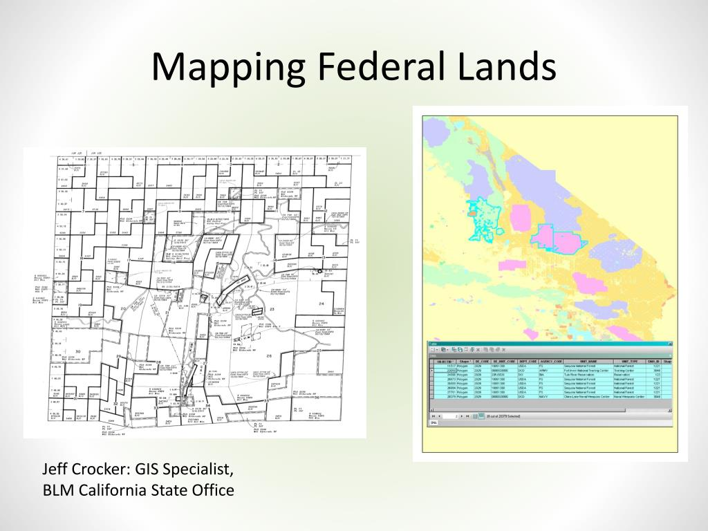 Blm Land Idaho Map.Ppt Mapping Federal Lands Powerpoint Presentation Id 1572858