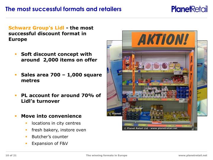 The most successful formats and retailers