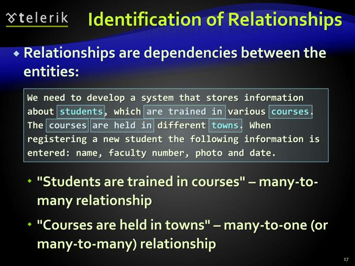 Identification of Relationships