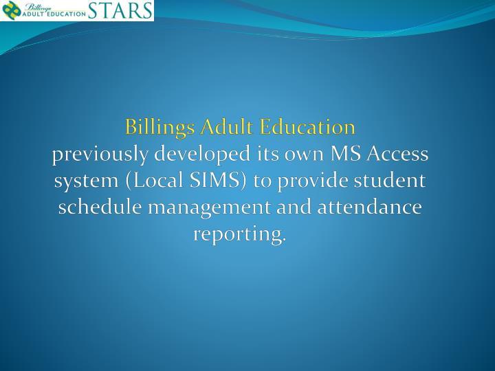Billings Adult Education