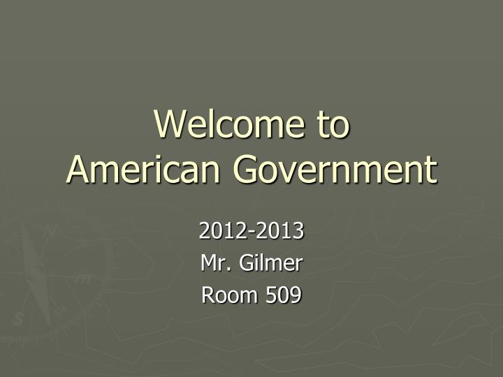 welcome to american government n.