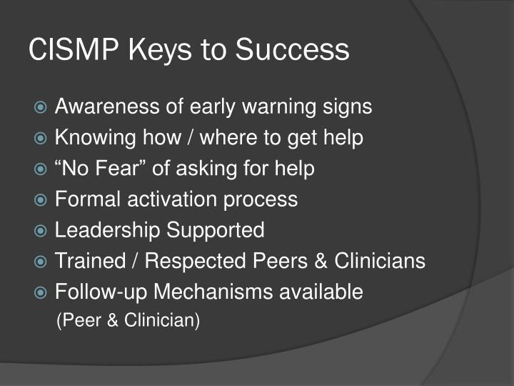 CISMP Keys to Success