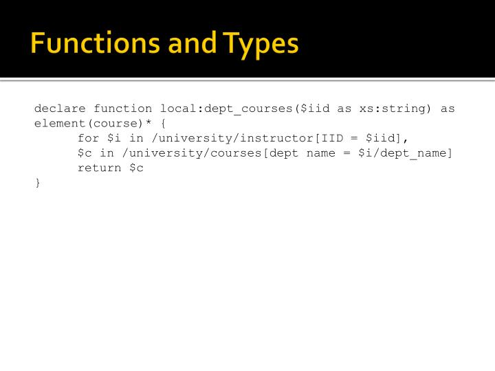 Functions and Types