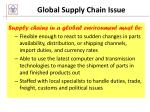 global supply chain issue