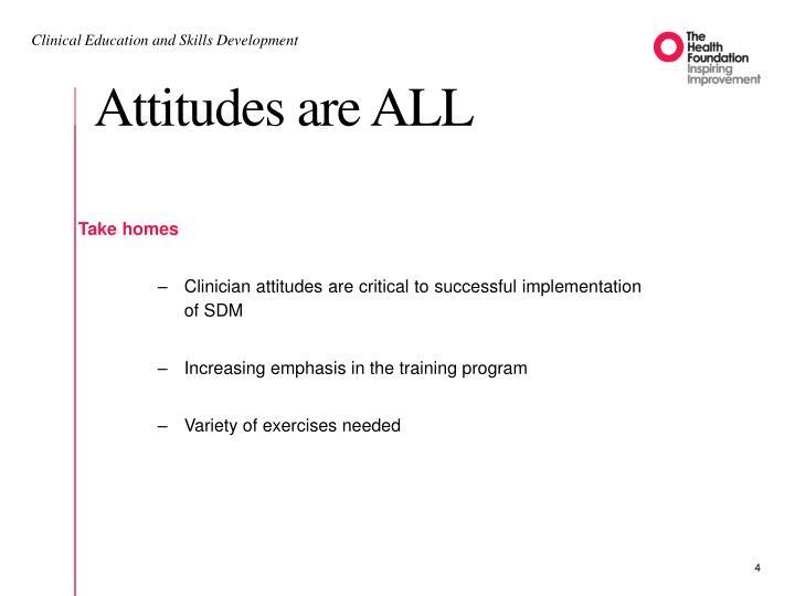 Attitudes are ALL