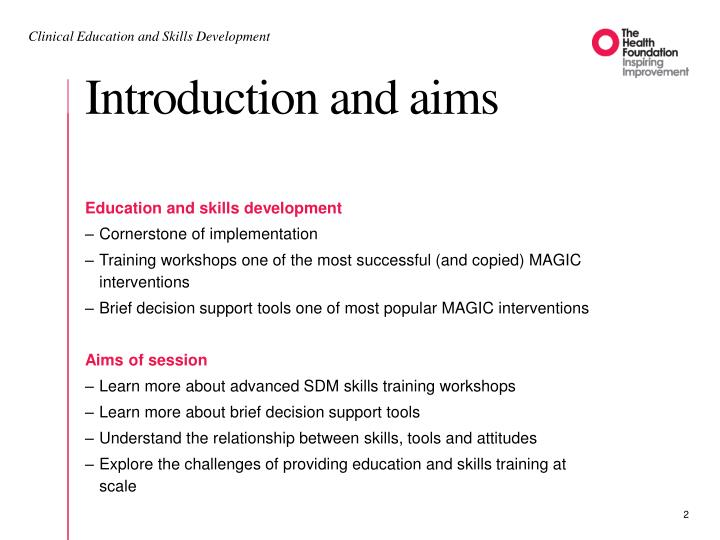 Introduction and aims