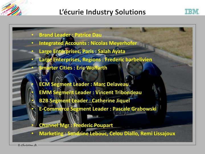 L'écurie Industry Solutions
