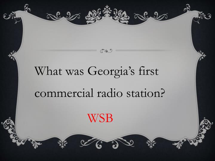 What was Georgia's first commercial radio station