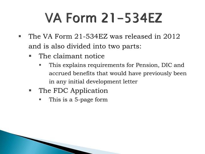VA Form 21-534EZ