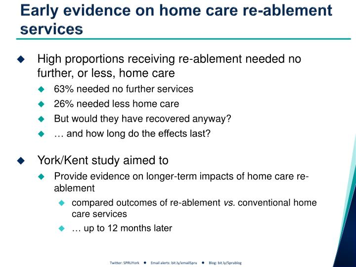 Early evidence on home care re-