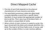 direct mapped cache1