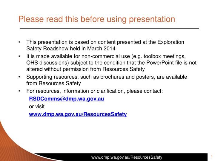 please read this before using presentation n.