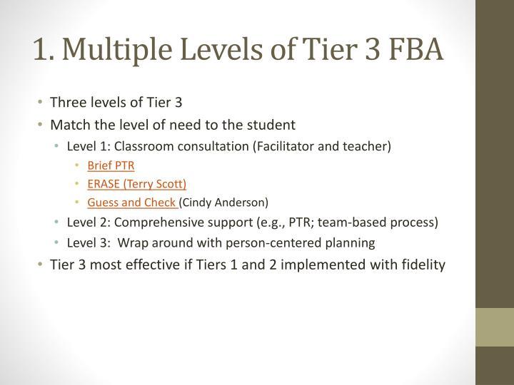 1. Multiple Levels of Tier 3 FBA