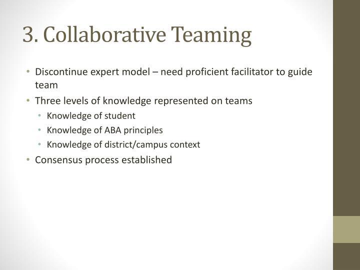 3. Collaborative Teaming